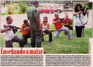 "ACORN-Type Chavista activist training to defend the ""Revolution."""