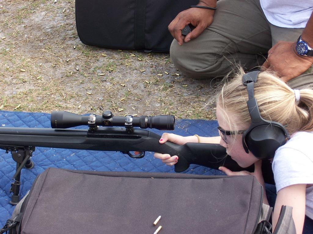 Future Police Sniper in the making.