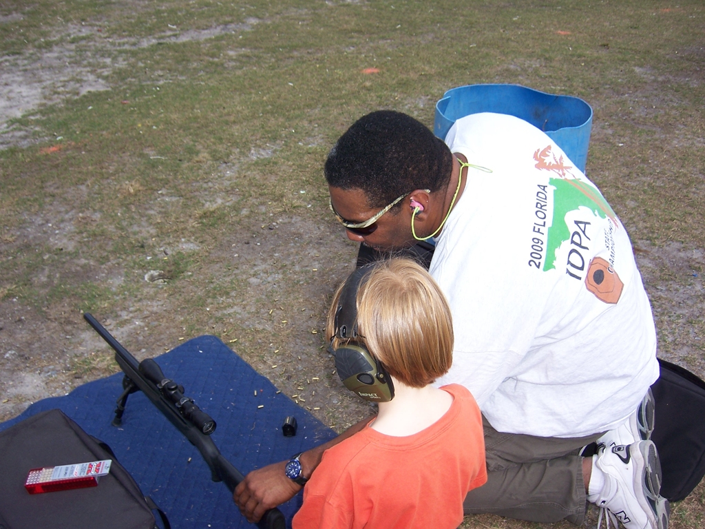 Jeff J. instructing a young New Shooter