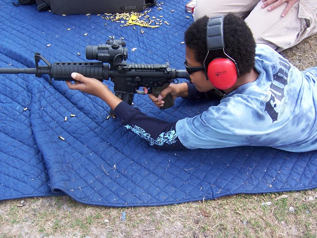 Kid & Evil Black Rifle... and nothing bad happened!