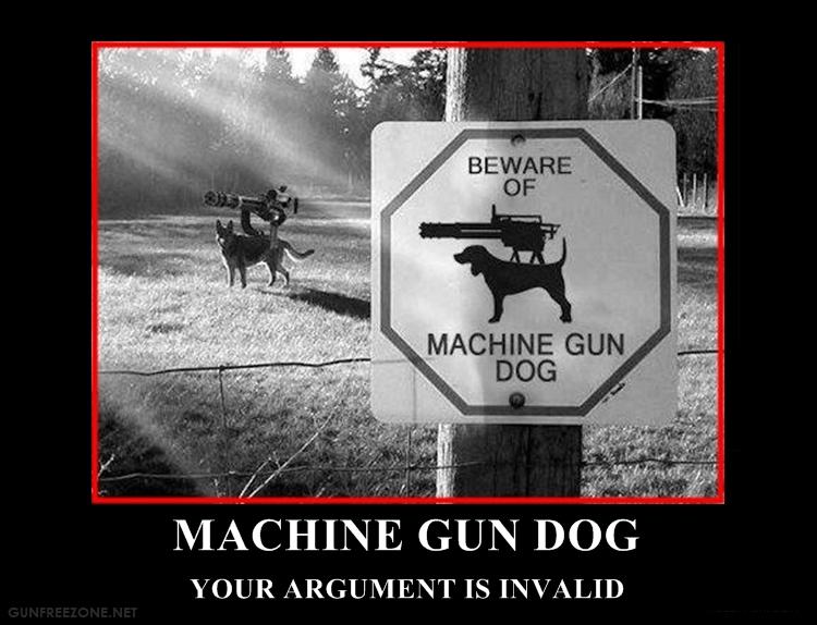 machine gun dog