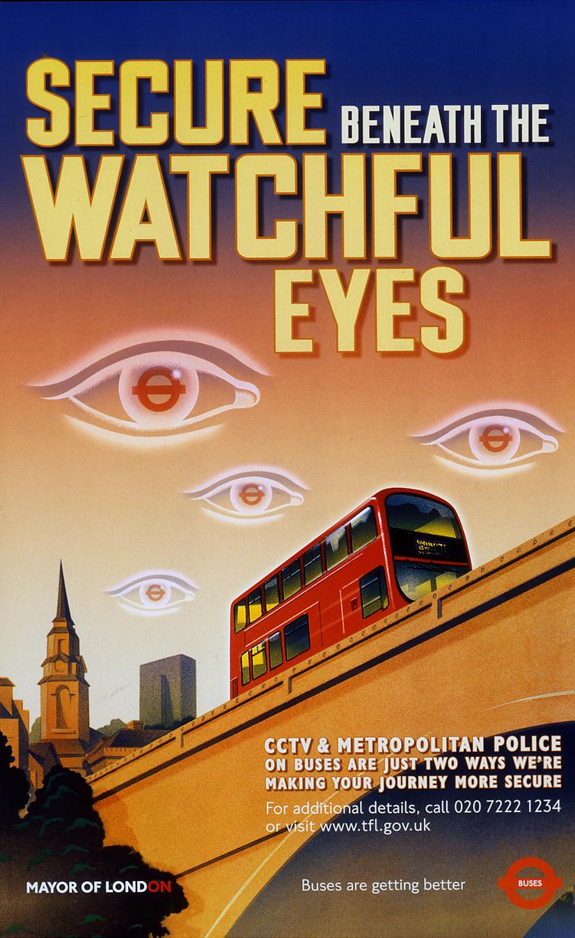 secure beneath the watchful eyes poster