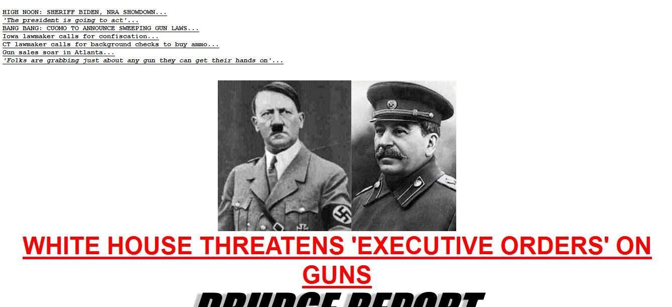 Drudge WH Gun Control