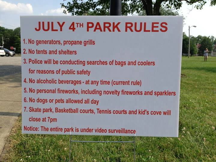 4th july rules