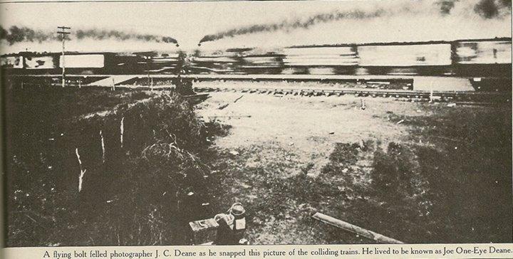 trains colliding