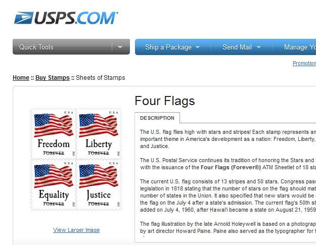 USPS flag crossed