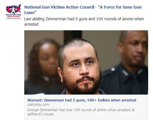 zimmerman arrest ammo guns1