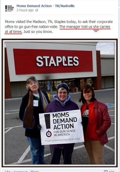 MOms Demand TN Staples