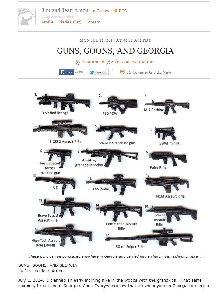 Daily Kos guns goons georgia
