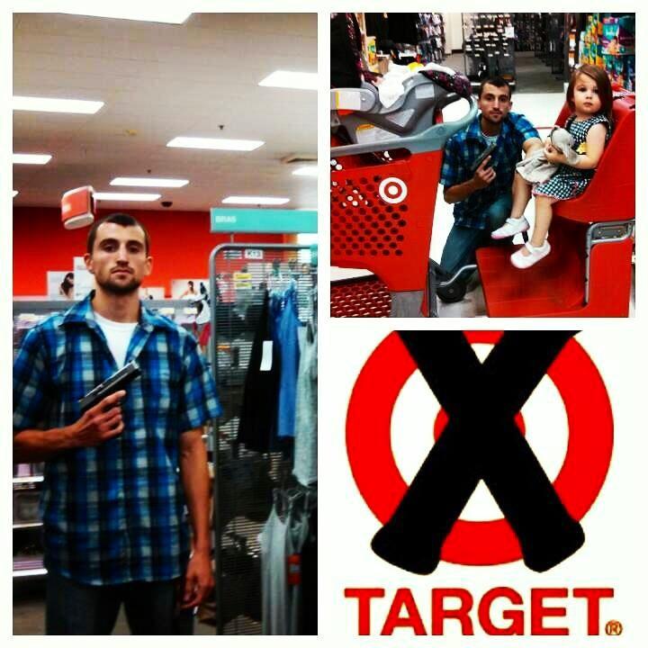 target moron brandishing