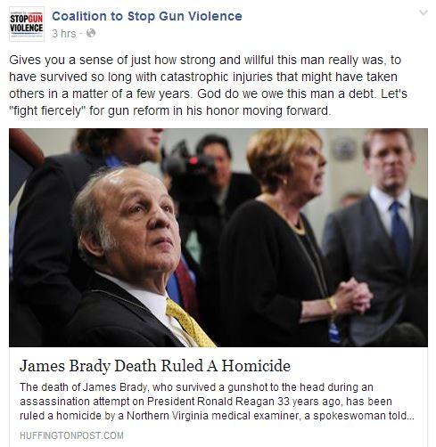 CSGV Jim Brady Beatification