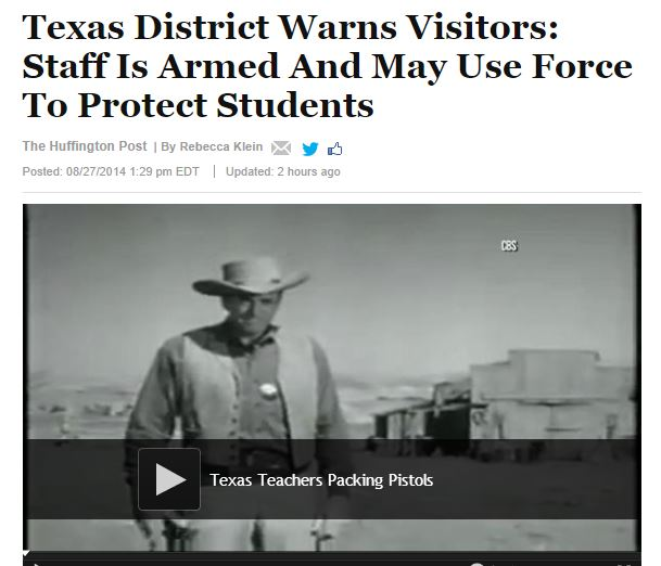 protest easy guns Texas schools armed teachers huffpo
