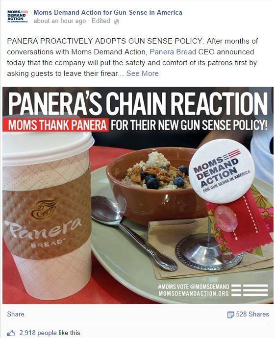 Moms Demand Panera