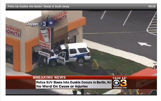 POLICE SUV Dunkin Donuts