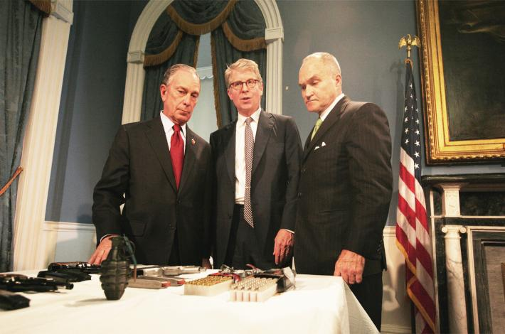 Michael Bloomberg with Vance jr. and NYPD Comish Ray Kelly