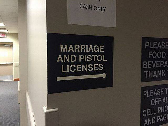 marriage and pistol licenses