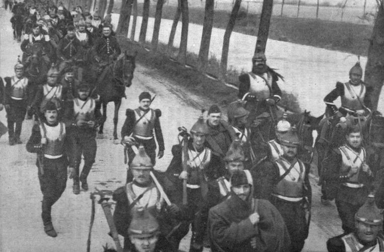 French Cavalrymen at the Ypres 1914