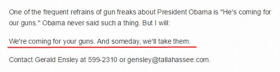 Gerald Ensley coming for your guns