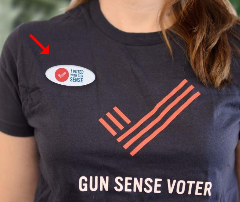 Gunsense voter sticker