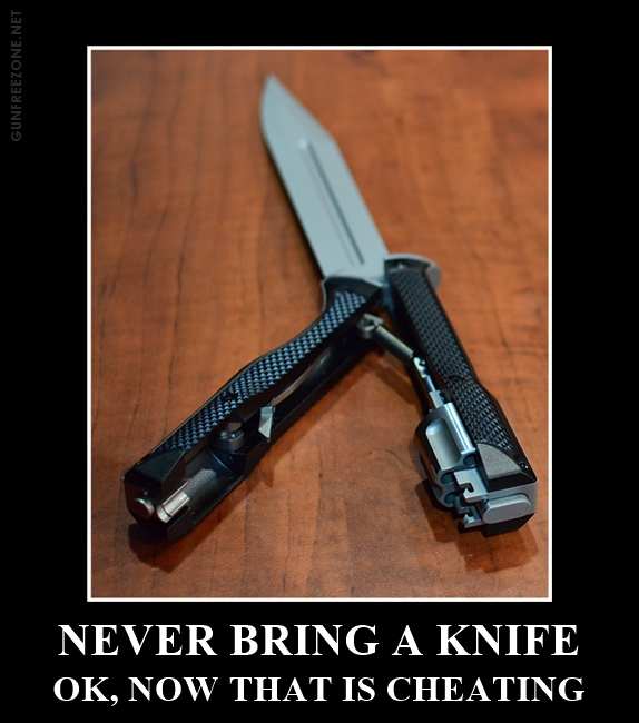 NEVER BRING A KNIFE