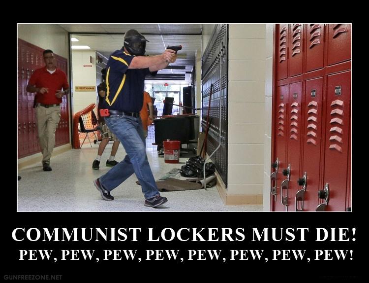 COMMUNIST LOCKERS MUST DIE