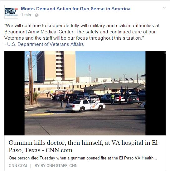 Moms Demand Beaumont Army Medical Center