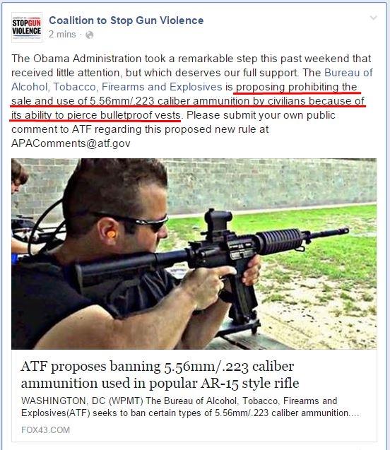 CSGV AR ammo Ban