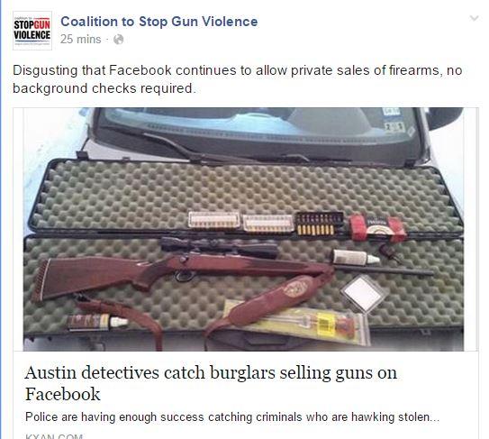 CSGV Stolen Gun Facebook