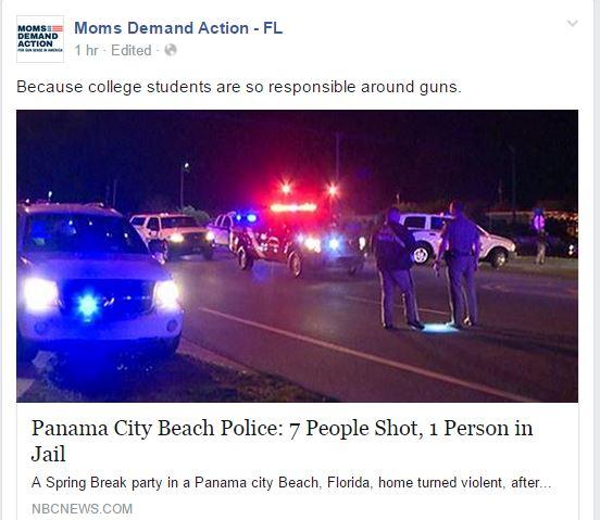 Moms Demand Panama Beach Spring Break