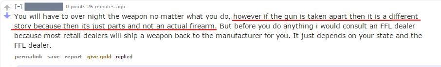 firearm shipping