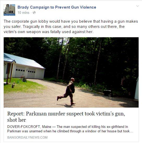 Brady Gun Taken Away