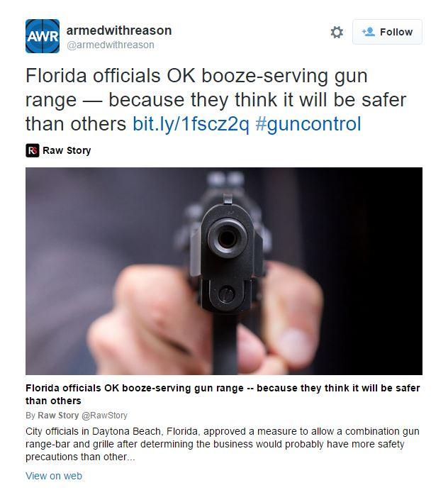Armed with reason bar gun range