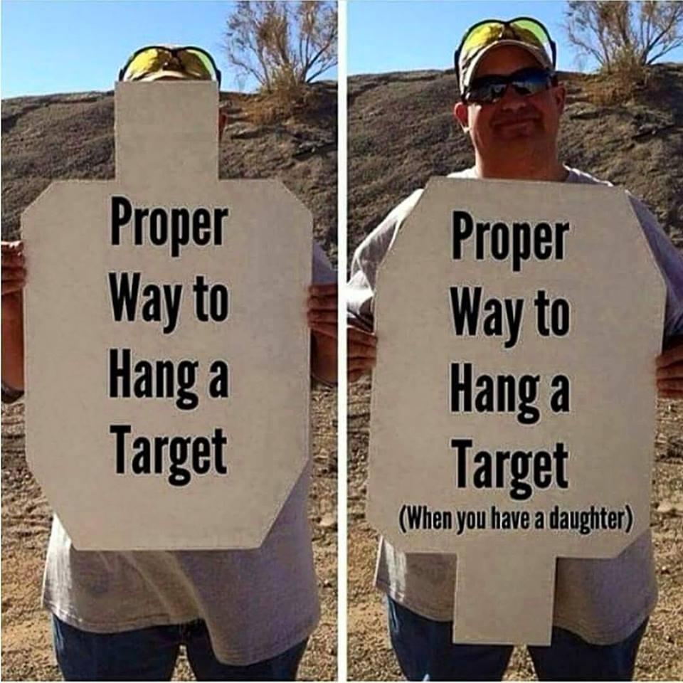 hand a target