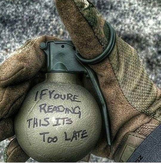 if you are reading this grenade