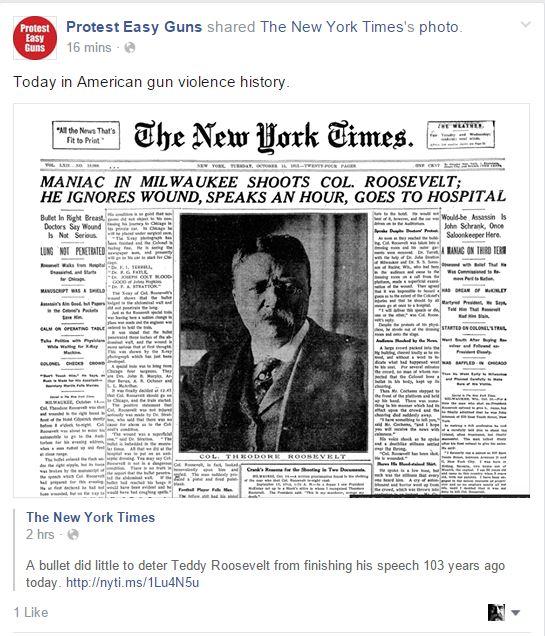 Protest easy Guns Teddy Roosevelt