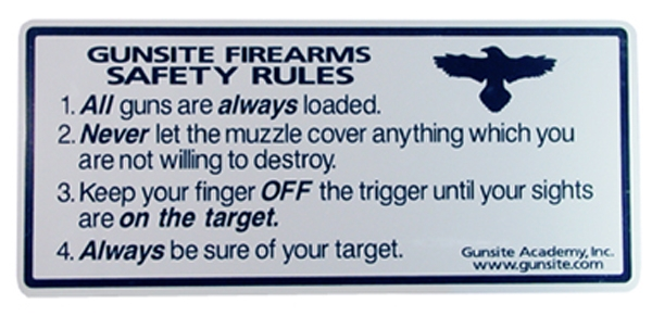 Gun Safety Rules Gunsite 1