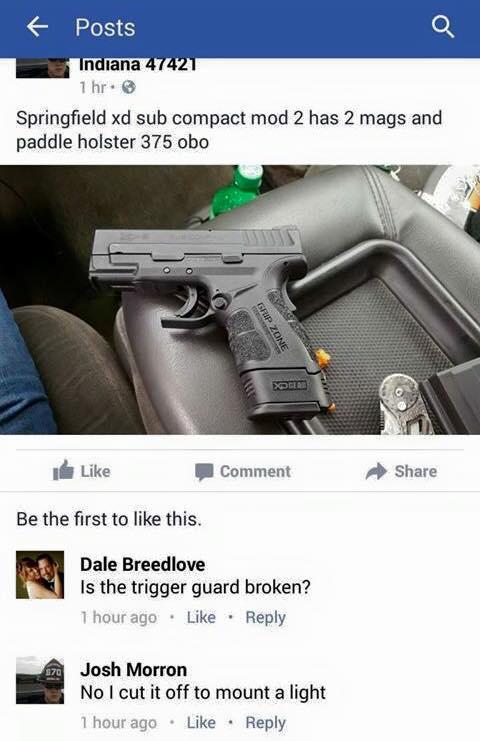 XD trigger guard