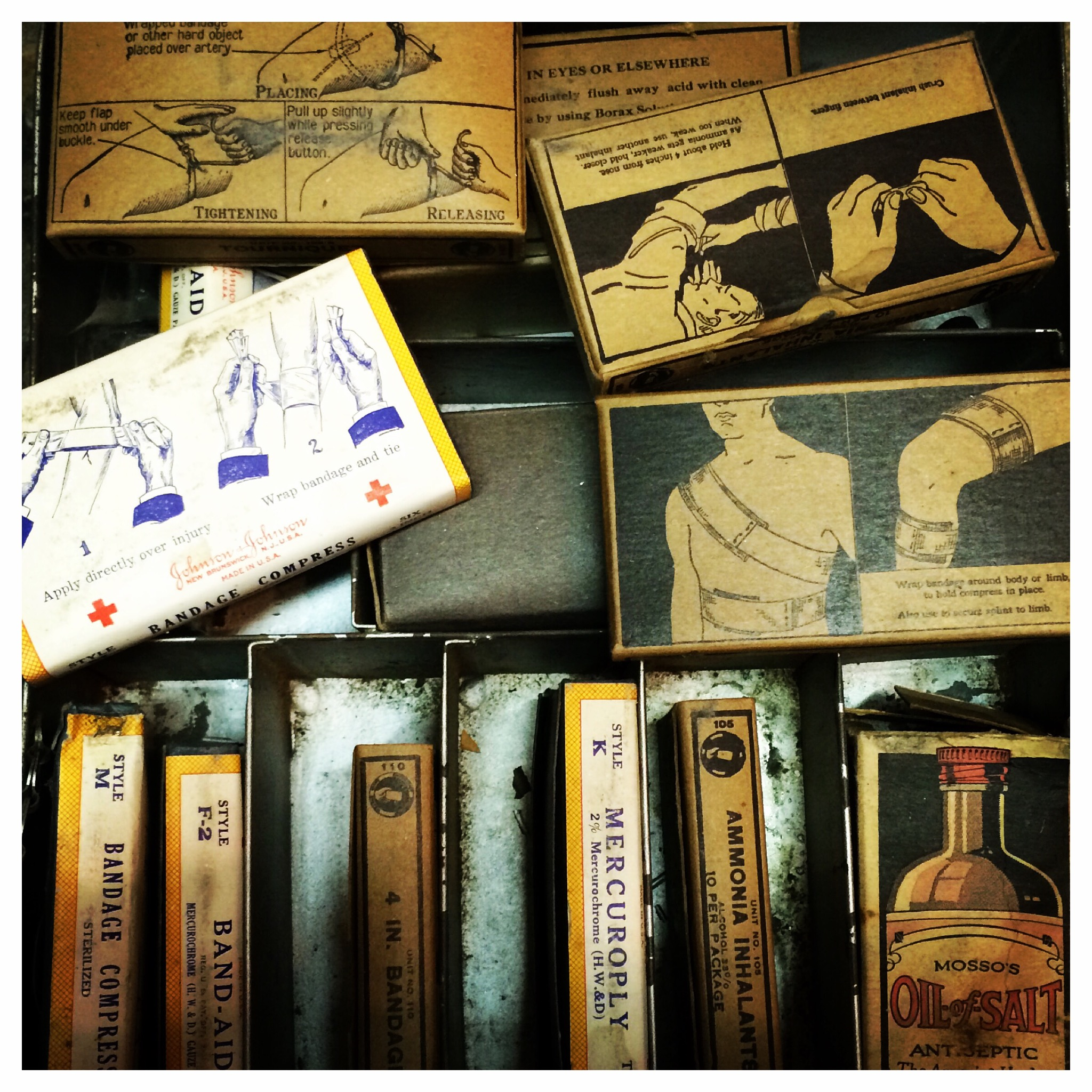 antique first aid kit