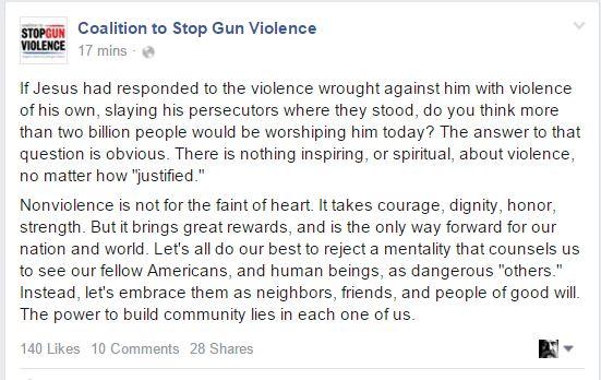 CSGV jesus violence