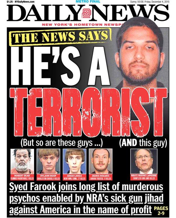 NY Daily News LaPierre Terrorist