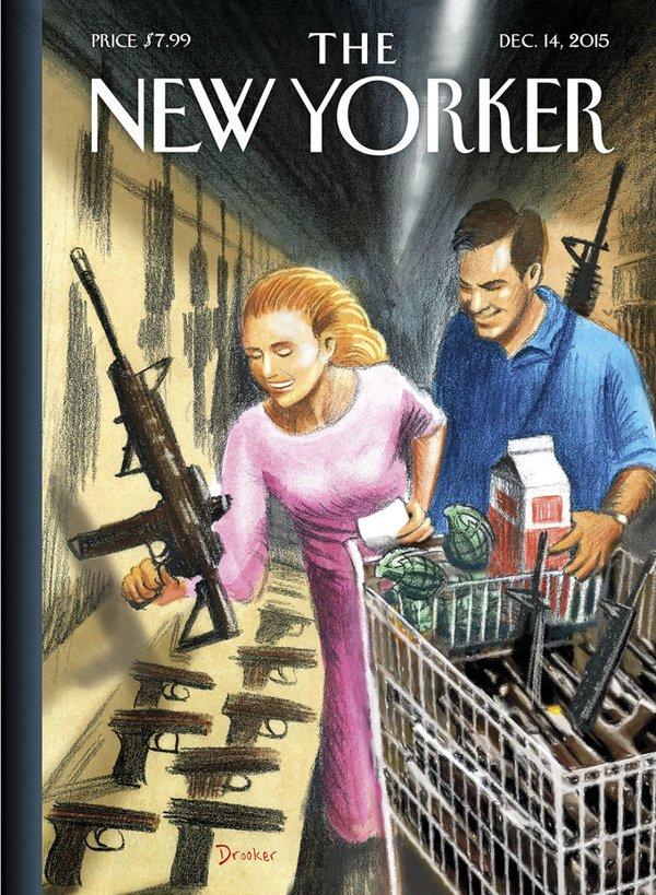 New Yorker Magazine cover guns