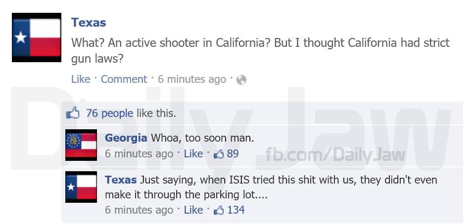 Texas Georgia Facebook