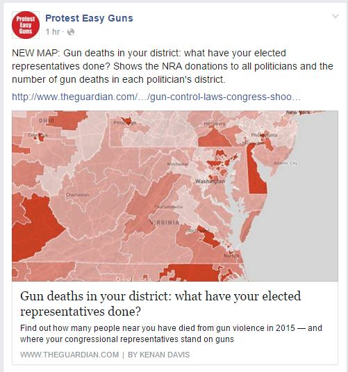 protests easy guns deaths by district