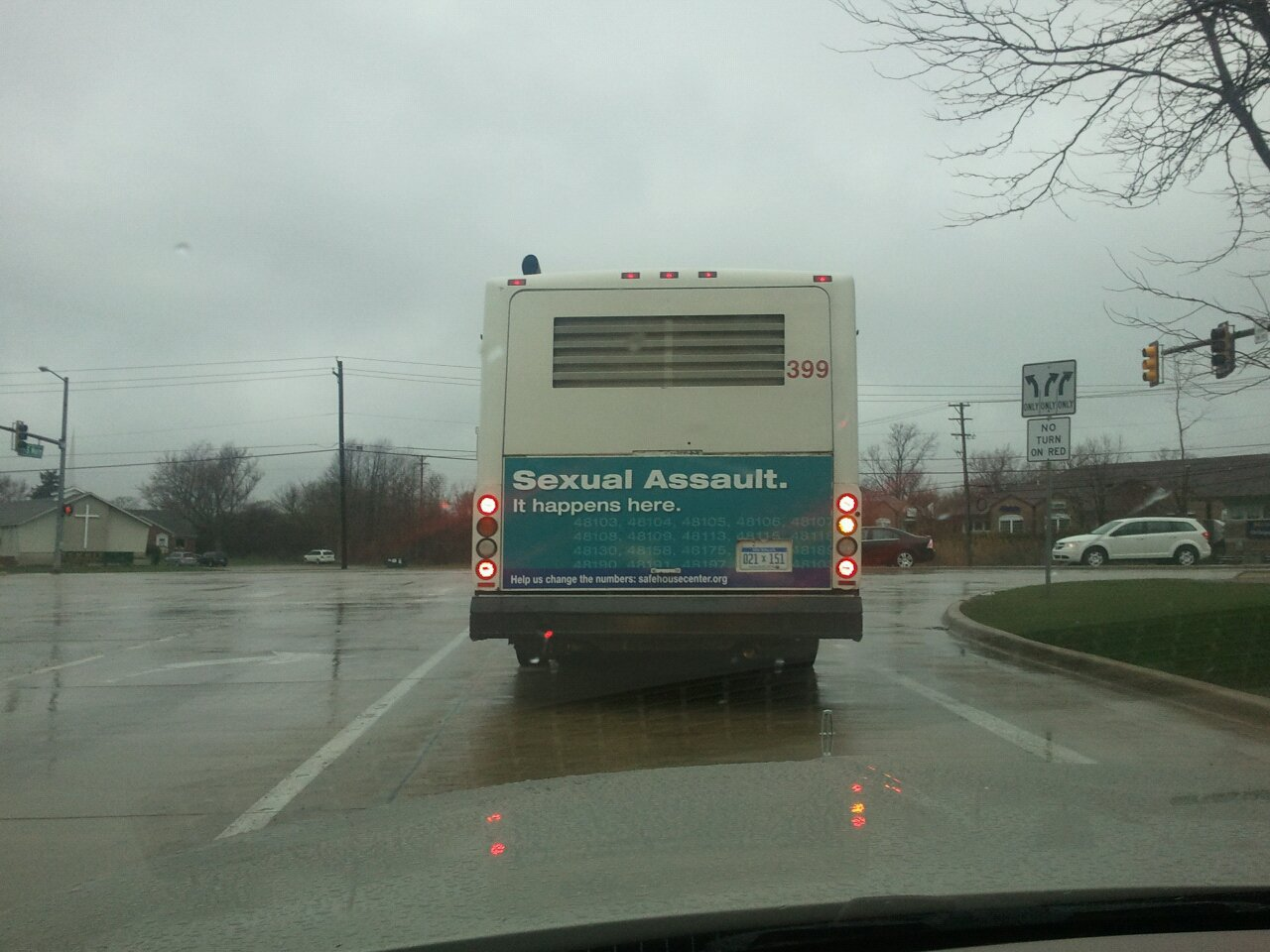 sexual assault notice bus