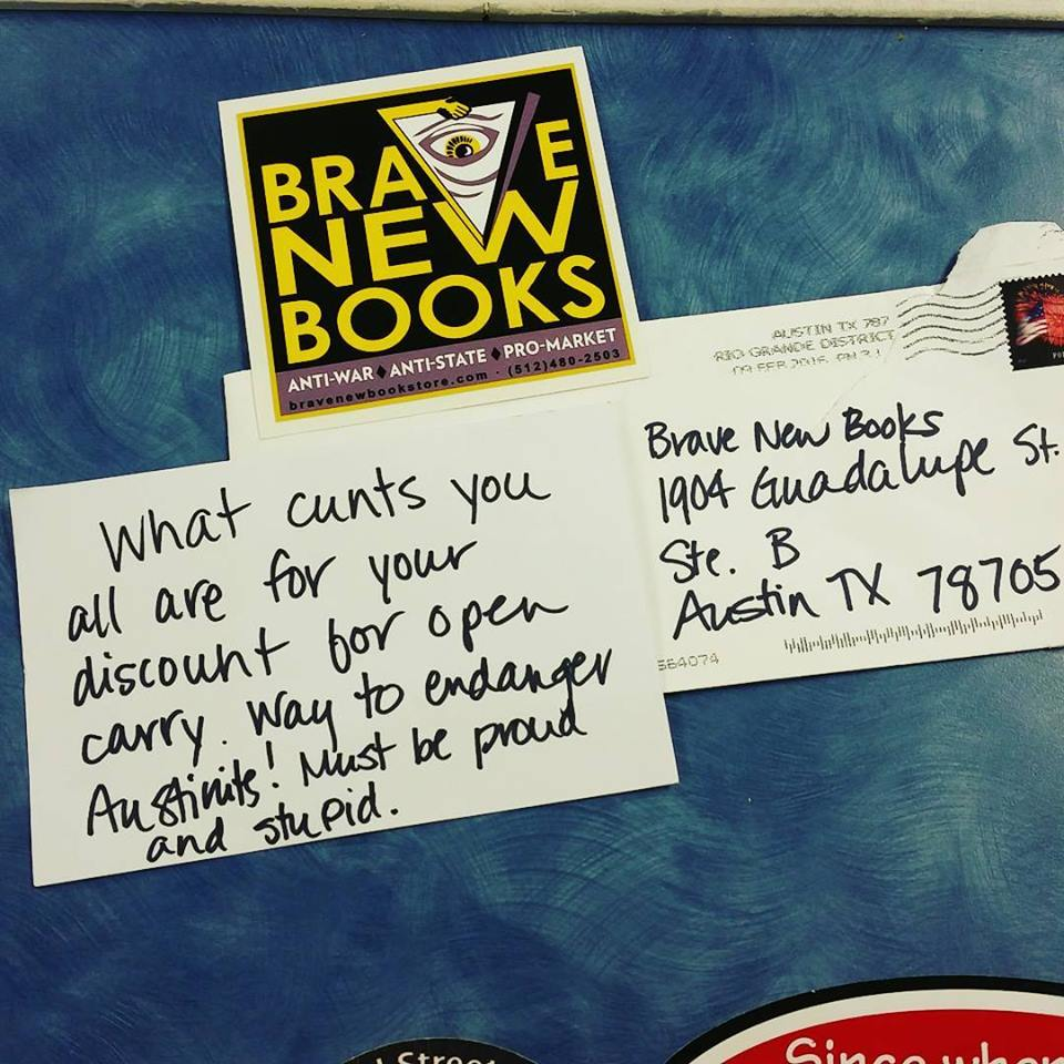 Brave New Books Hate Mail