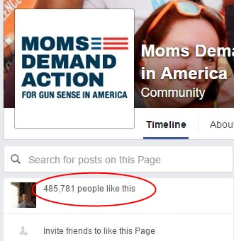 Moms Demand FB followers