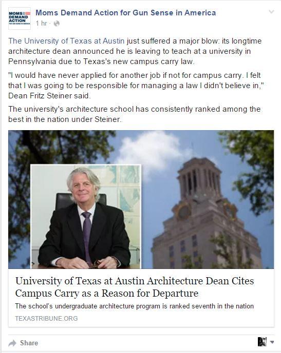 Moms Demand Texas Professor Texas