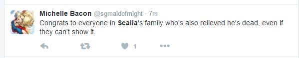 Scalia twitter comment