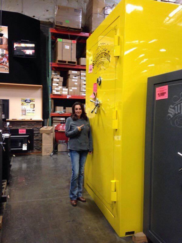 yellow gun safe