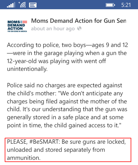 Moms Demand NRA safety